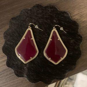 Kendra Scott Maroon teardrop earrings